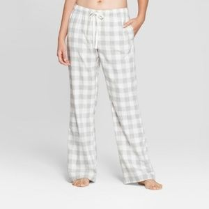 Gilligan O'Malley Cream Plaid Flannel Pajama Pants